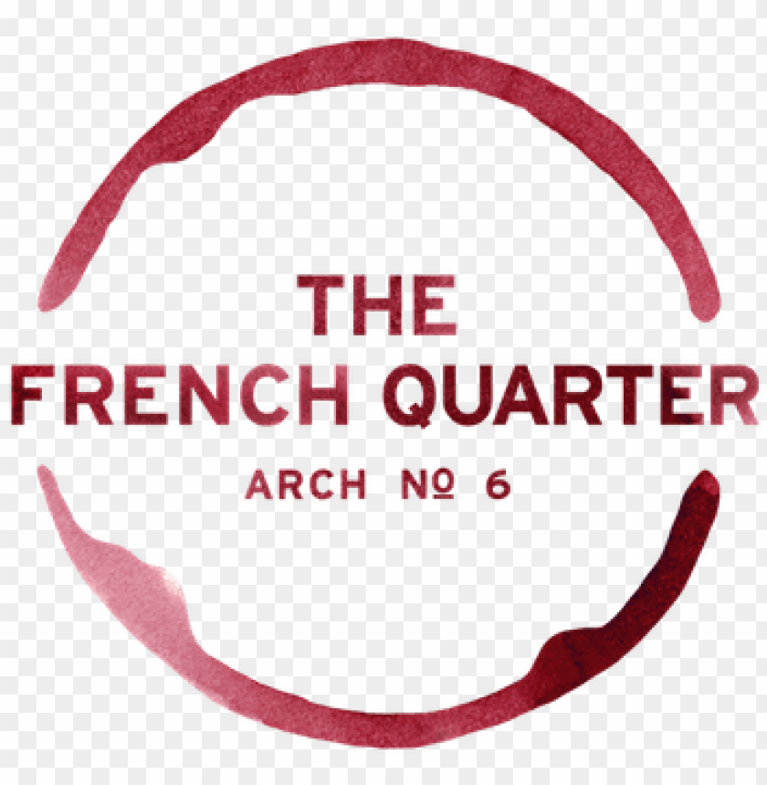 free PNG the french quarter logo wine stain - french quarter newcastle PNG image with transparent background PNG images transparent