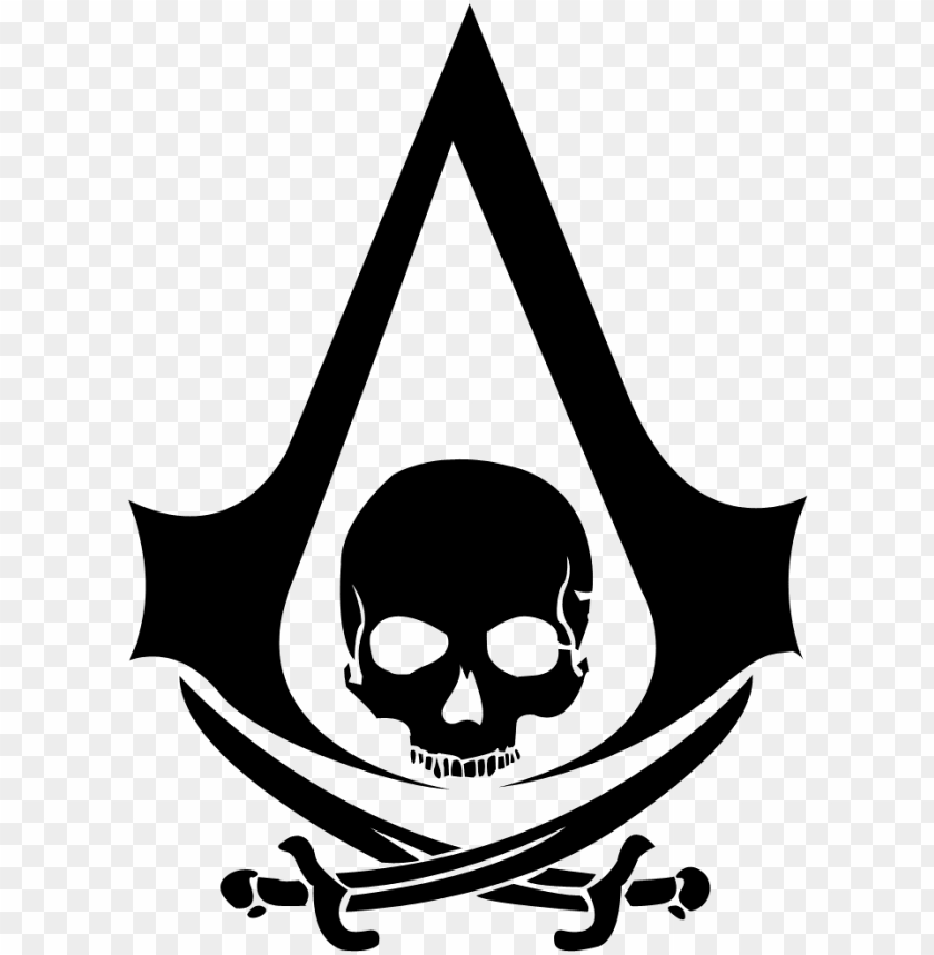 The G Ery For Assassins Creed 4 Logo Png Assassin S Creed Pirate Logo Png Image With Transparent Background Toppng