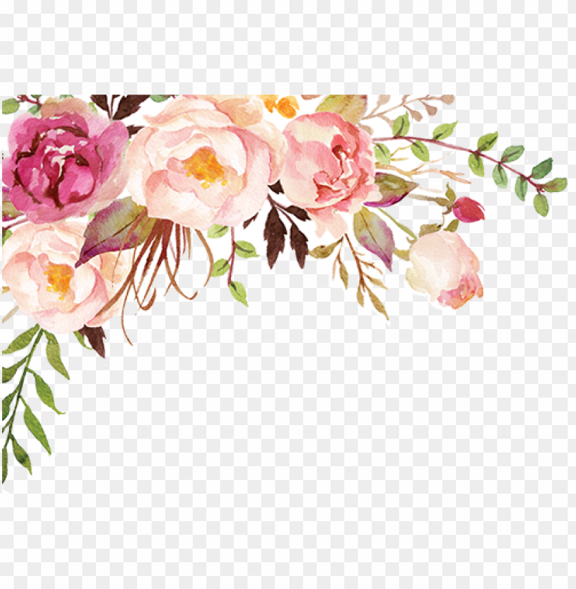 the gallery for > watercolor flower png watercolor - thanks card PNG image with transparent background@toppng.com