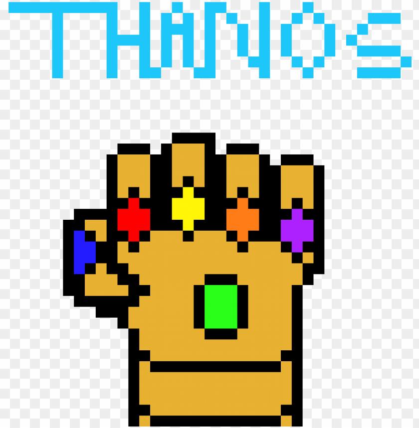 The Gauntlet Infinity Gauntlet Pixel Art Png Image With