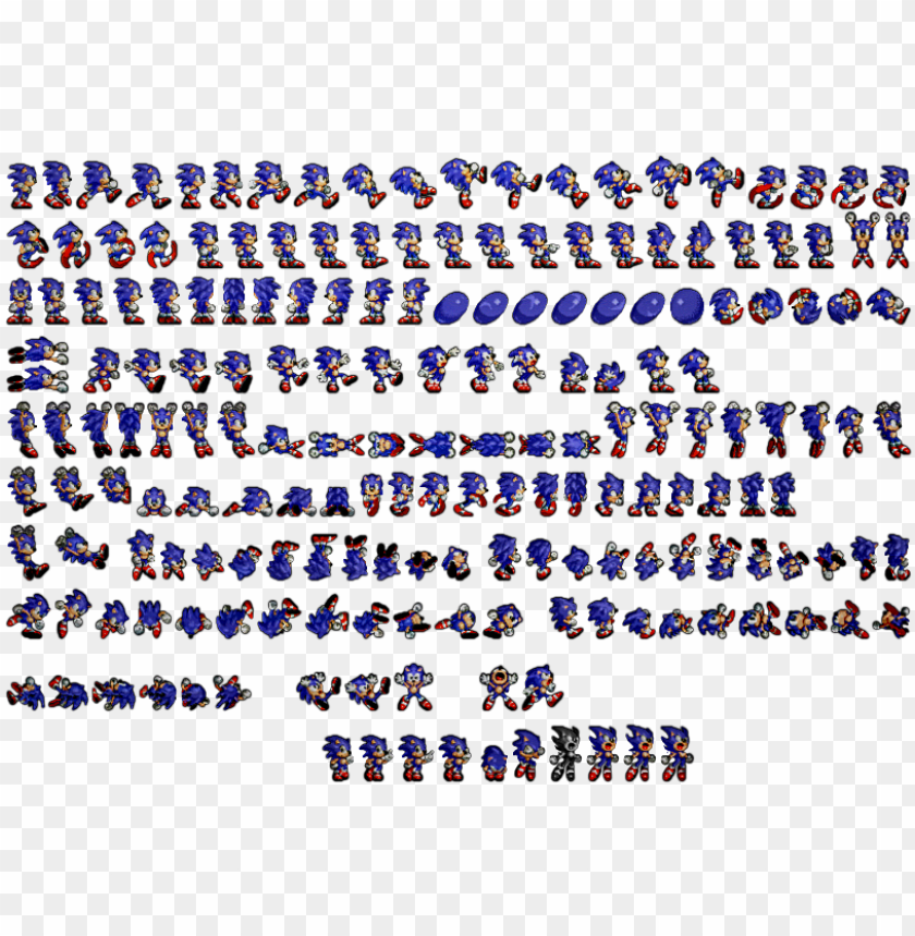 The Hedgehog Sprites Rendered Sonic The Hedgehog Sprites Png Image With Transparent Background Toppng