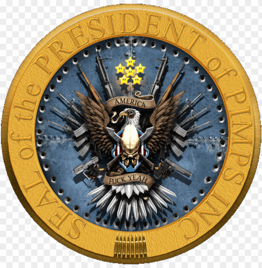 free PNG the imperial president's toolbox of terror - usa presidential seal eagle PNG image with transparent background PNG images transparent
