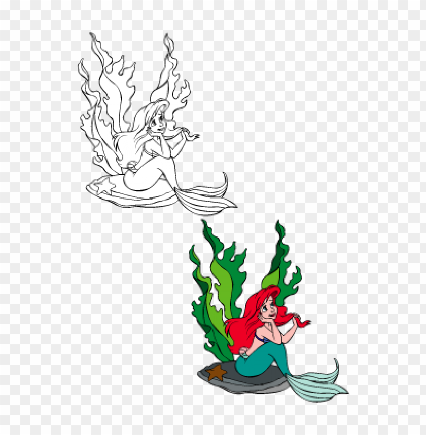 free PNG the little mermaid – ariel vector logo free PNG images transparent