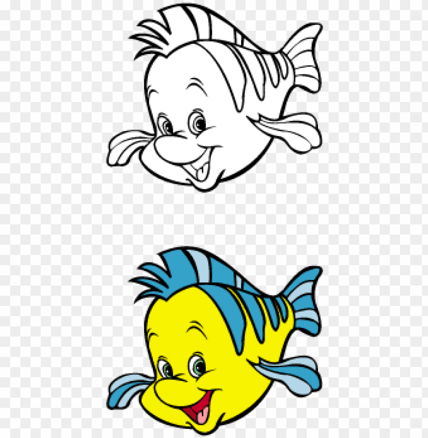 free PNG the little mermaid - little mermaid flounder sv PNG image with transparent background PNG images transparent