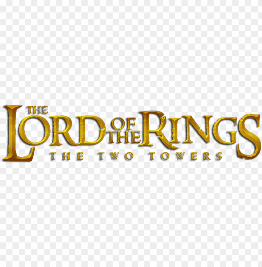free PNG the lord of the rings - lord of the rings the two towers logo PNG image with transparent background PNG images transparent