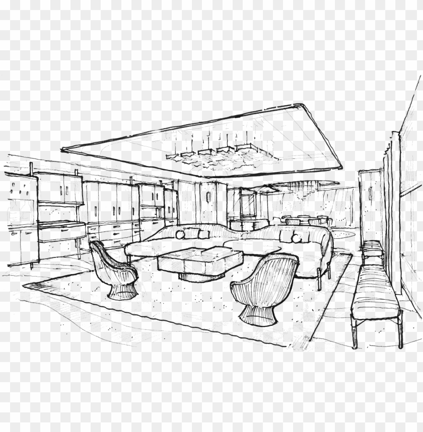 free PNG the master bedroom contains its own sitting area and - joyce wang sketch PNG image with transparent background PNG images transparent