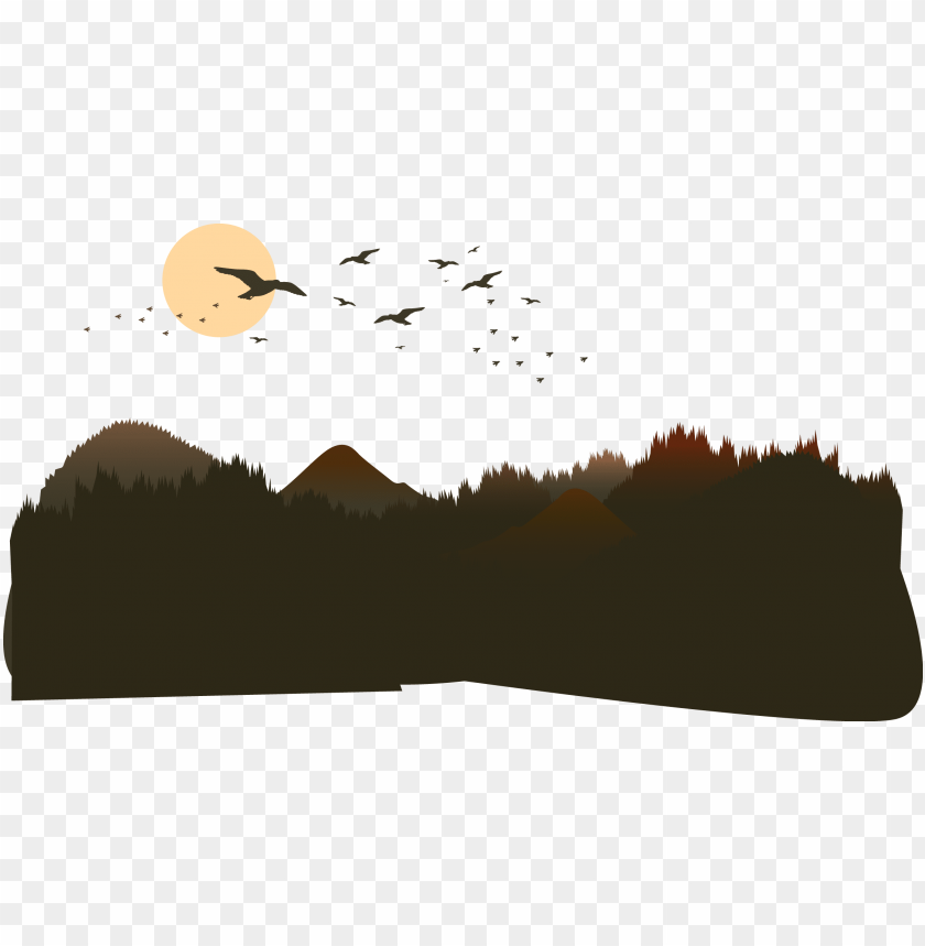free PNG the mountains of the mountain vector - mountain silhouette vector PNG image with transparent background PNG images transparent