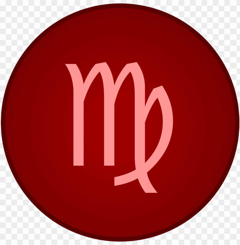 free PNG the planet mercury will pass through the 12th house - red virgo symbol PNG image with transparent background PNG images transparent