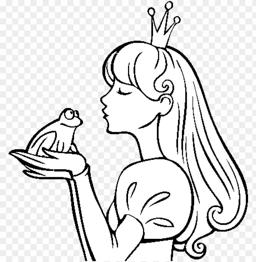 The Princess And The Frog Coloring Page Princesa Y La Rana Png
