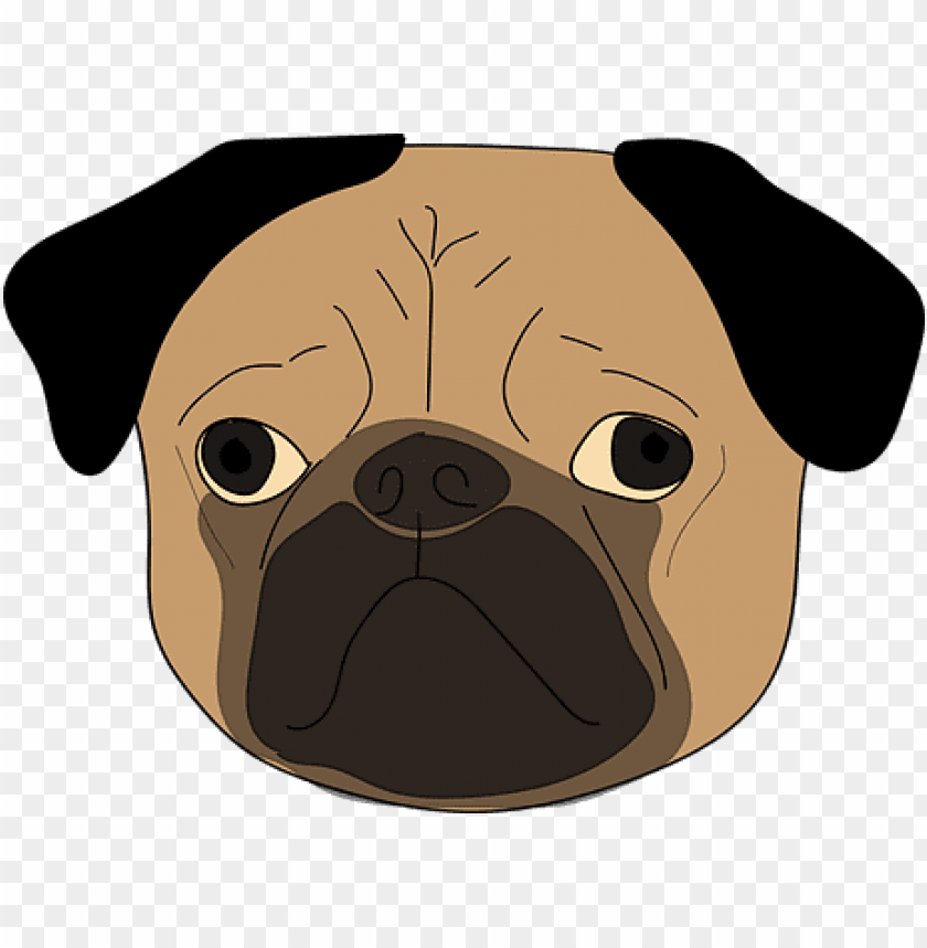 free PNG the pug puppy dog cute animal dog dog dog - dog face transparent background PNG image with transparent background PNG images transparent