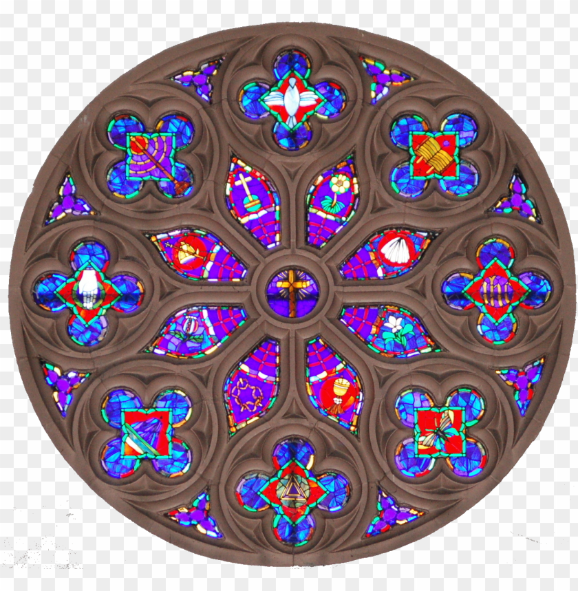 free PNG the rose window - stained glass PNG image with transparent background PNG images transparent