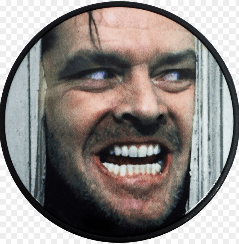 free PNG the shining here's johnny phone grip - shining movie poster jack nicholson kubrick PNG image with transparent background PNG images transparent
