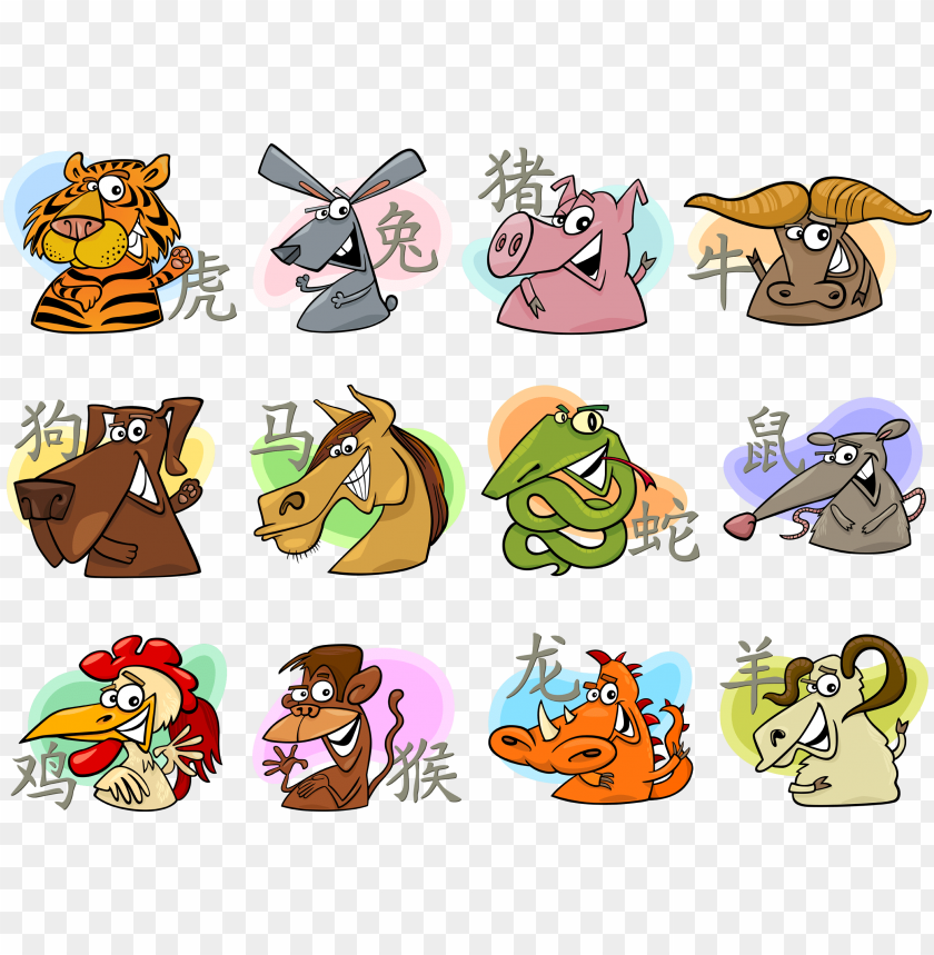 free PNG the signs of the zodiac - chinese zodiac animals PNG image with transparent background PNG images transparent