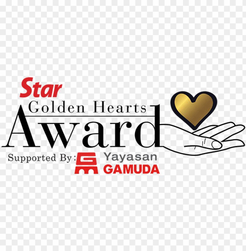 free PNG the star golden hearts award celebrates malaysians - golden heart award PNG image with transparent background PNG images transparent