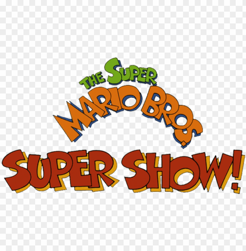 free PNG the super mario bros - super mario bros super show logo PNG image with transparent background PNG images transparent