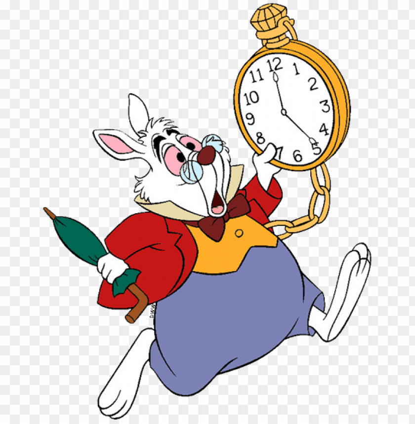 free PNG the white rabbit clip art - i m late for a very important date PNG image with transparent background PNG images transparent