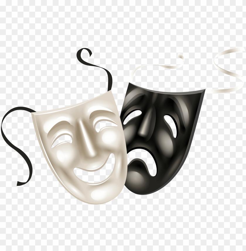 free PNG theater masks, carnival masks, theatres, black and - transparent clip art masks PNG image with transparent background PNG images transparent