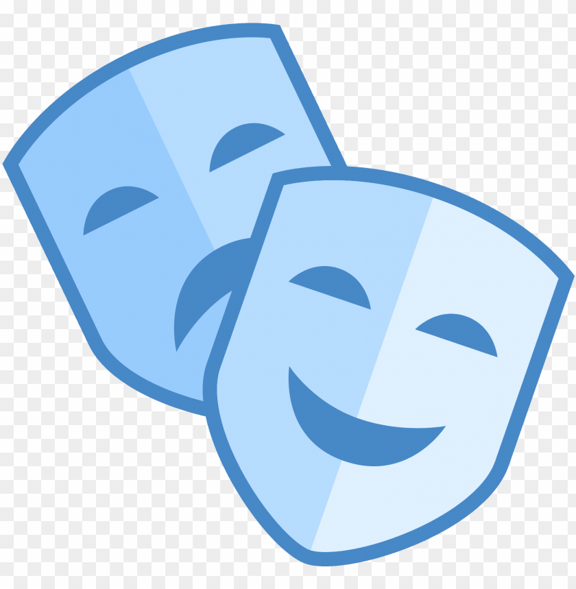 free PNG theatre clipart mask icon - theatre masks blue PNG image with transparent background PNG images transparent