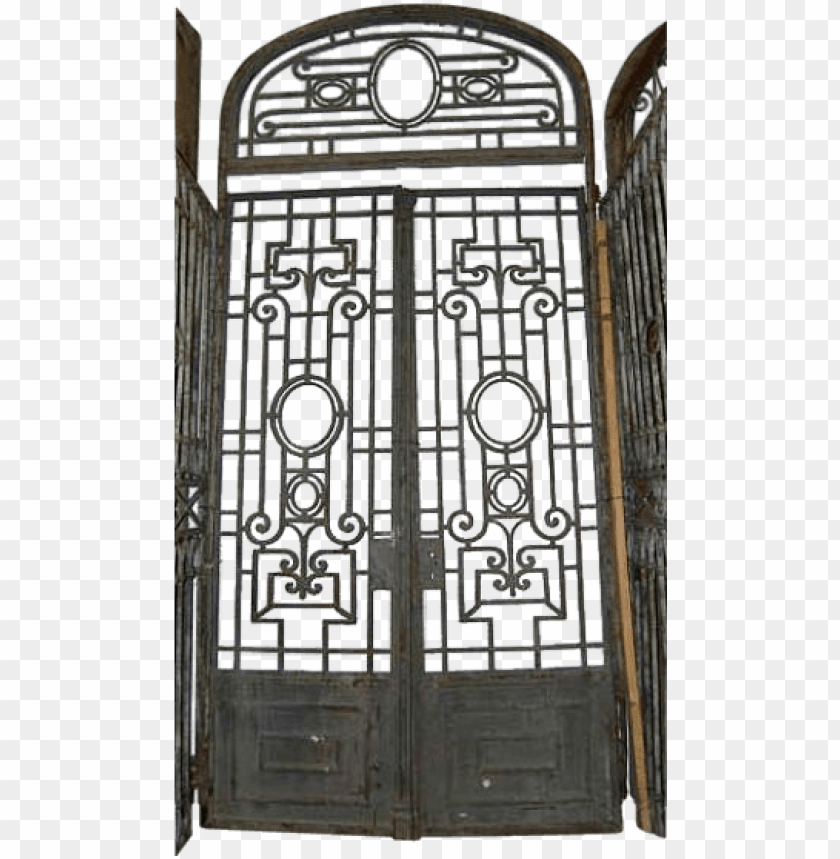 free PNG these heavy, forged iron entry doors are crafted in - iron double doors french PNG image with transparent background PNG images transparent