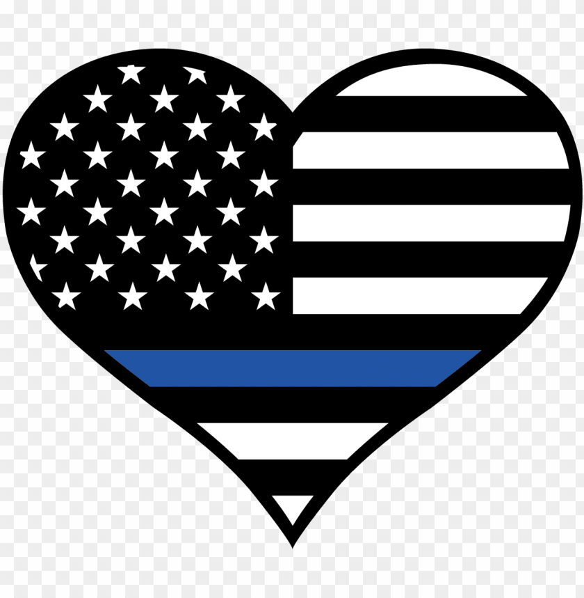 Thin Blue Line Heart Svg Png Image With Transparent Background Toppng