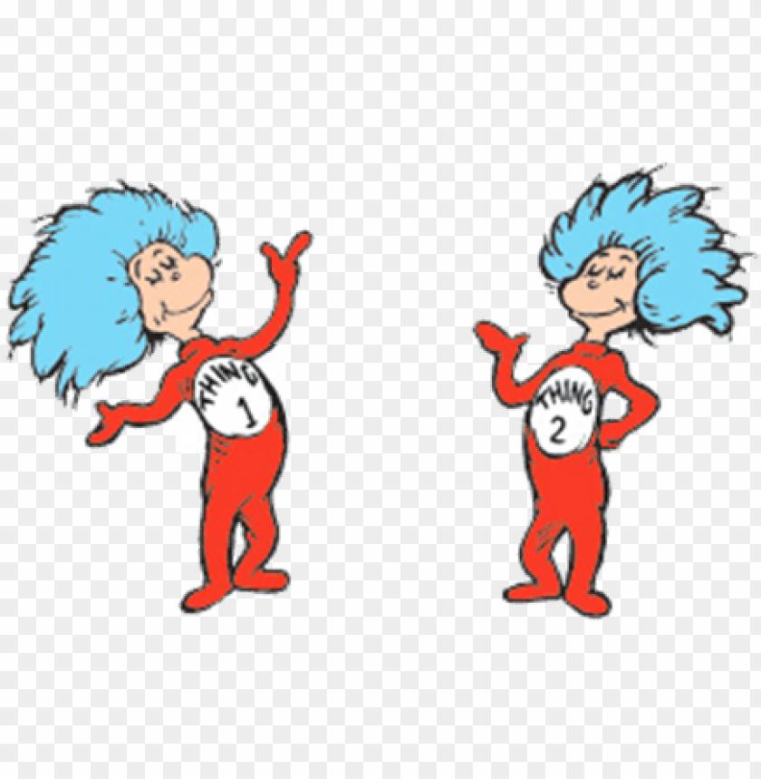 free PNG thing 1 and thing 2 google search cat in the hat party - cat in the hat knows PNG image with transparent background PNG images transparent