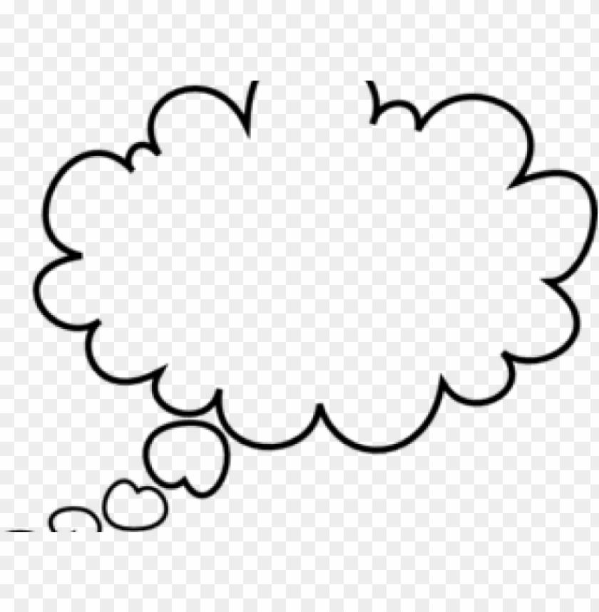 free PNG think cloud cliparts - speech bubble clip art PNG image with transparent background PNG images transparent