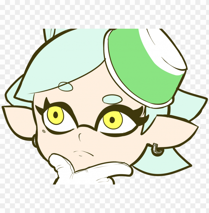 Thinking Marie Thinking Face Emoji Know Your Meme Splatoon