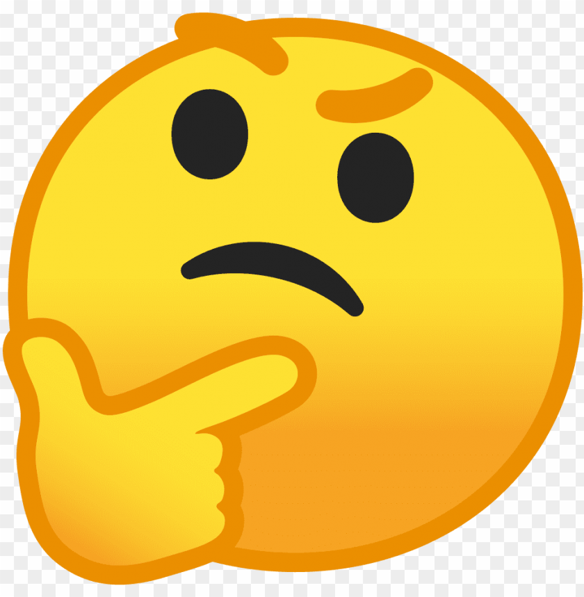 free PNG thinking smiley face png picture royalty free stock - thinking face emoji PNG image with transparent background PNG images transparent