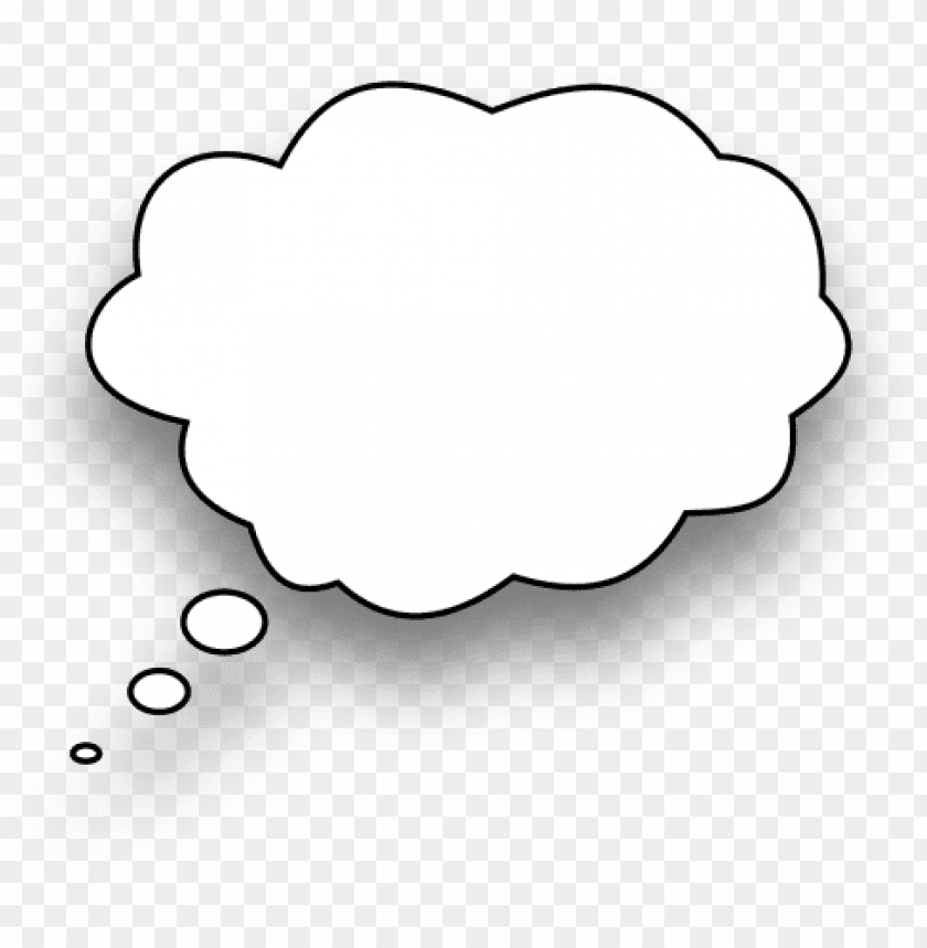 Thinking Speech Thought Bubble Icon Png White Png Image With Transparent Background Toppng