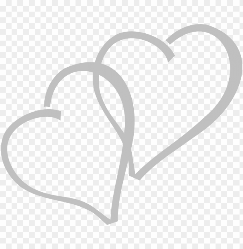 free PNG this free clipart png design of silver hearts clipart - double heart icon PNG image with transparent background PNG images transparent