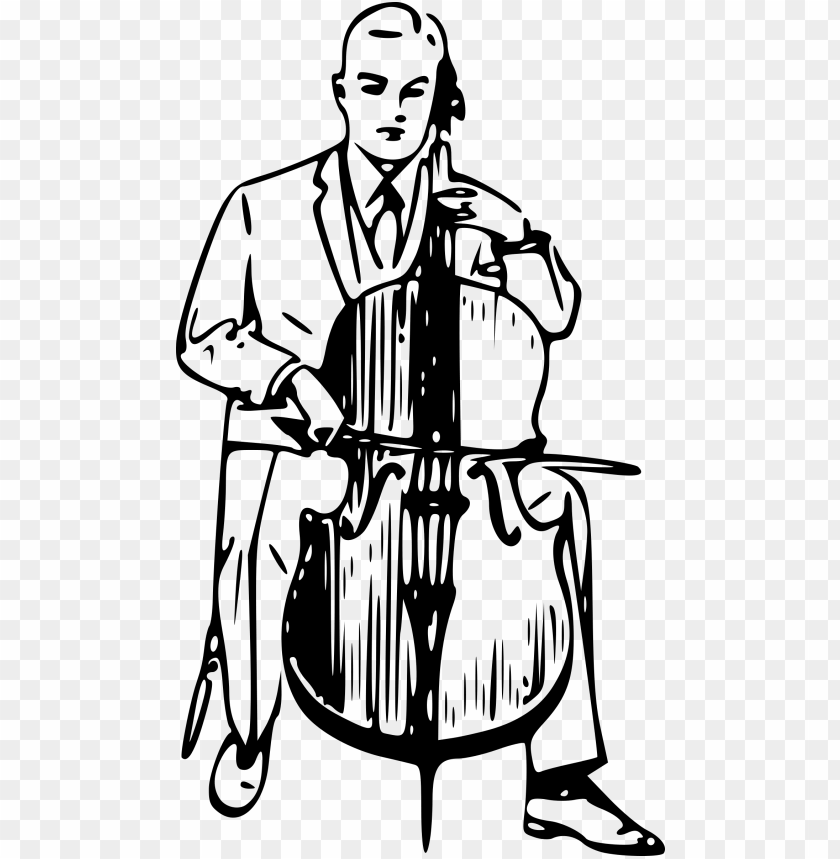free PNG this free icons png design of man playing cello PNG image with transparent background PNG images transparent