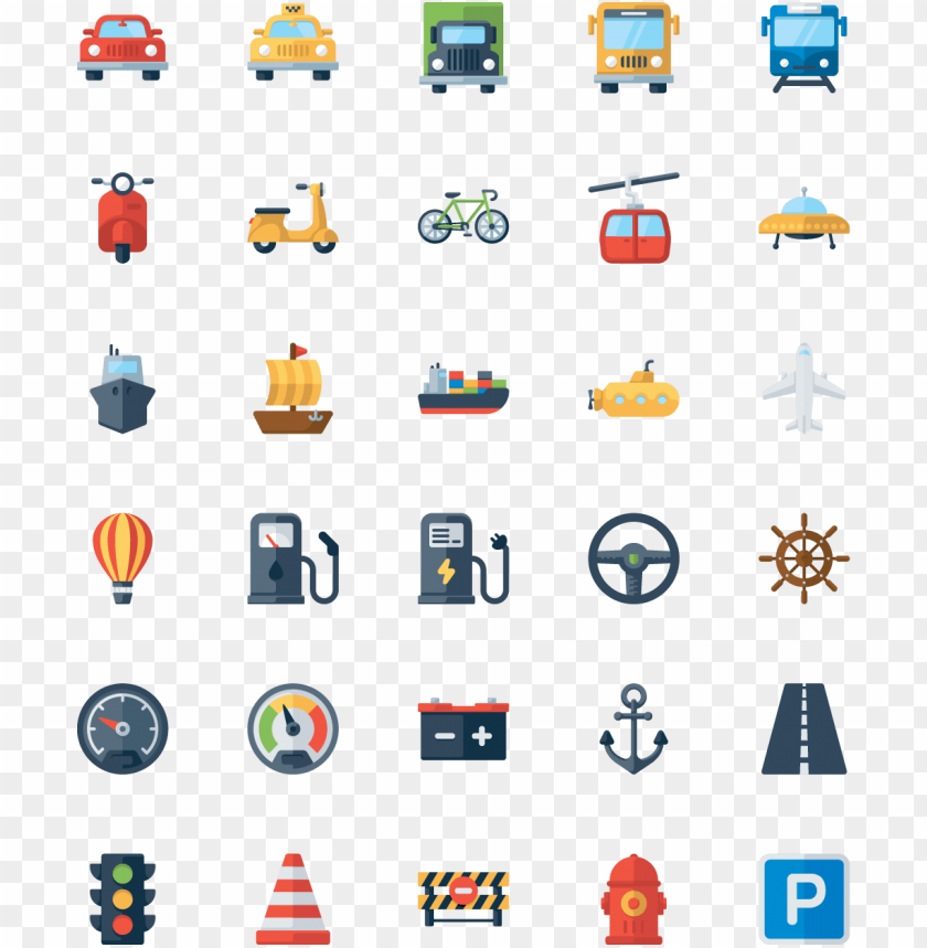 this graphics is 30 vehicles icon vector about icon - 交通 工具 icon png - Free PNG Images@toppng.com