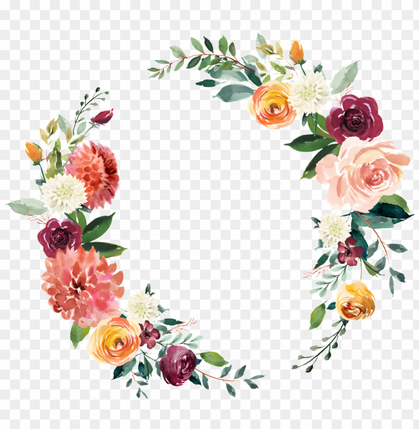free PNG this graphics is garland vector about hand drawing,watercolor - watercolor wreath png hd PNG image with transparent background PNG images transparent