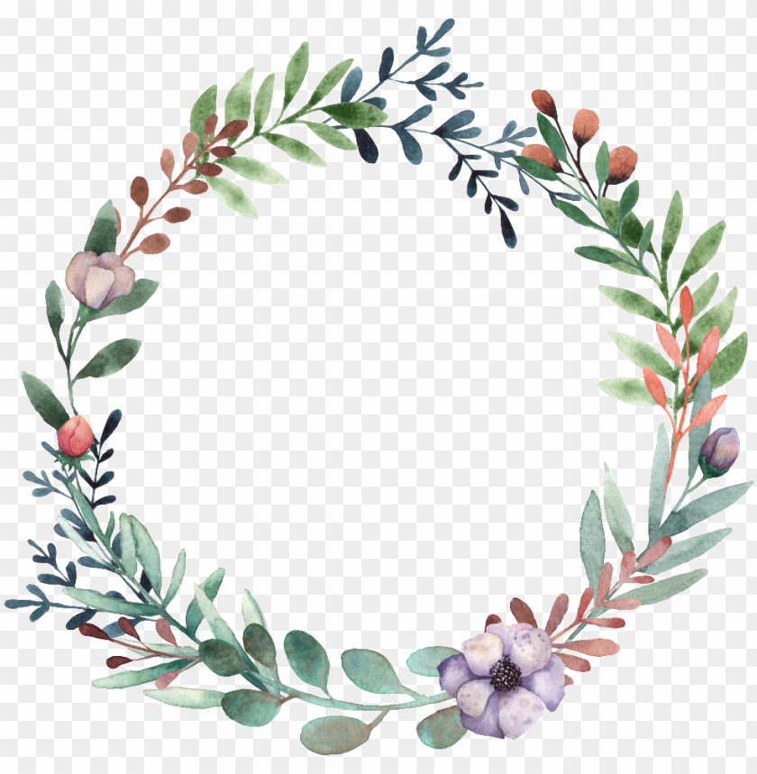 free PNG this graphics is hand painted green small leaf wreath - portable network graphics PNG image with transparent background PNG images transparent