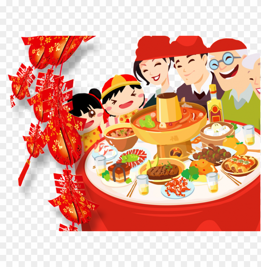free PNG this graphics is new year's eve new year's eve element - reunion dinner clipart PNG image with transparent background PNG images transparent