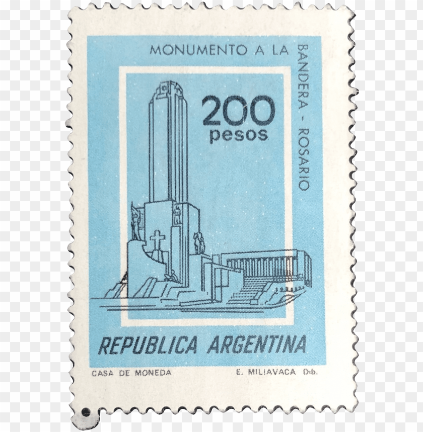 free PNG this lovely stamp is part of a set that was issued - stamps argentina monumento a la bandera PNG image with transparent background PNG images transparent