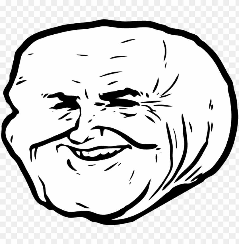This Media May Contain Sensitive Material Rage Troll Face Transparent Png Image With Transparent Background Toppng