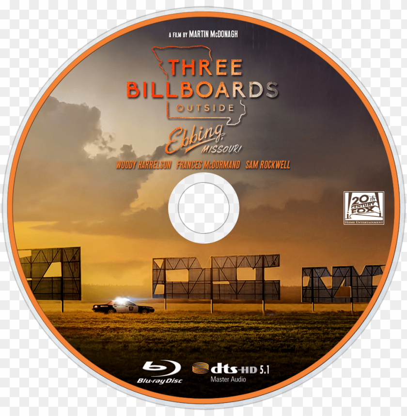 free PNG three billboards outside ebbing, missouri bluray disc - three billboards outside ebbing missouri dvd PNG image with transparent background PNG images transparent