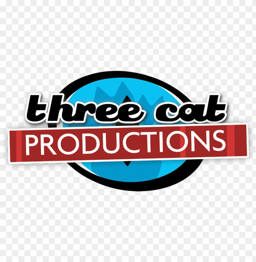 free PNG three cat productions - three cat media PNG image with transparent background PNG images transparent