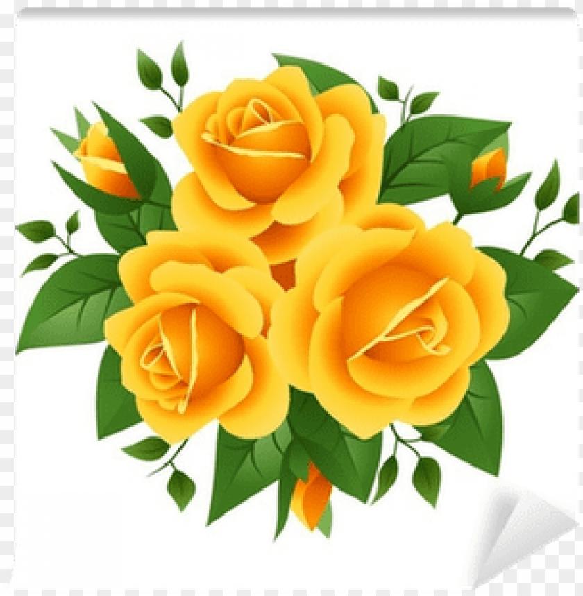 Yellow Rose Clip Art