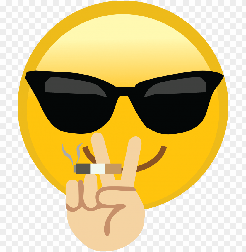 free PNG thug life emoji - smiling face with sunglasses cool emoji mens polo - PNG image with transparent background PNG images transparent