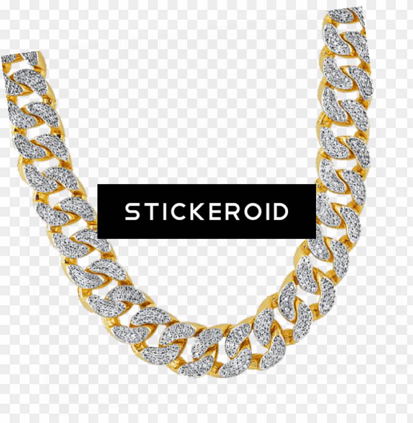 free PNG thug life gold chain diamonds - buy gold cuban chain india PNG image with transparent background PNG images transparent