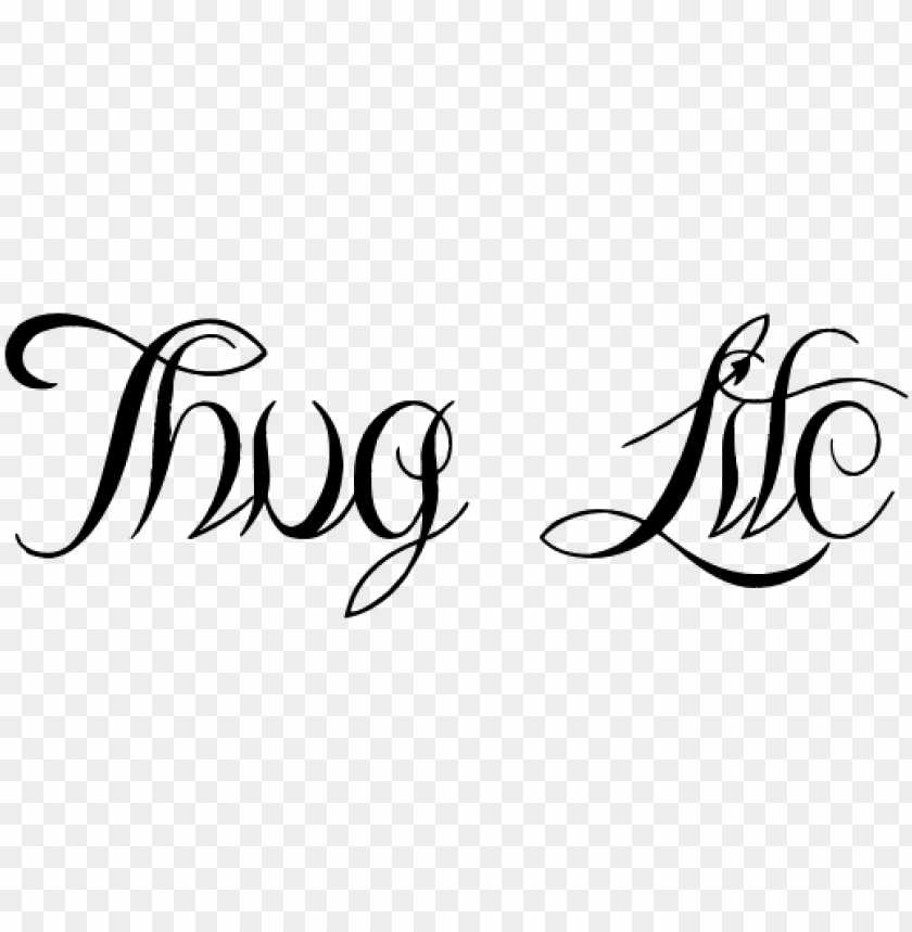thug life text png file - portable network graphics PNG image with transparent background@toppng.com