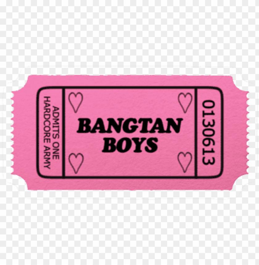 ticket bts kpop bangtan bangtanboys png cute pink stickers tumblr png bts 11562890241ymvok93ntq