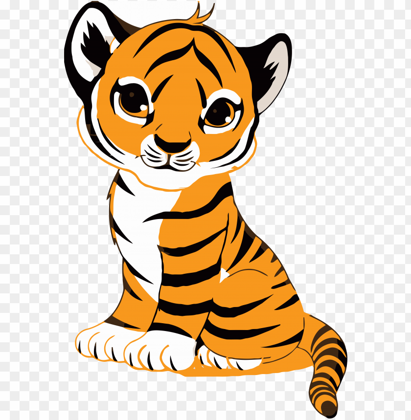 free PNG tiger face clip art royalty free tiger illustration - cute cartoon tiger cub PNG image with transparent background PNG images transparent