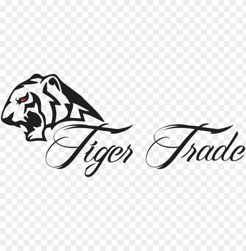 tiger logo tiger logo black and white png image with transparent background toppng tiger logo black and white png image