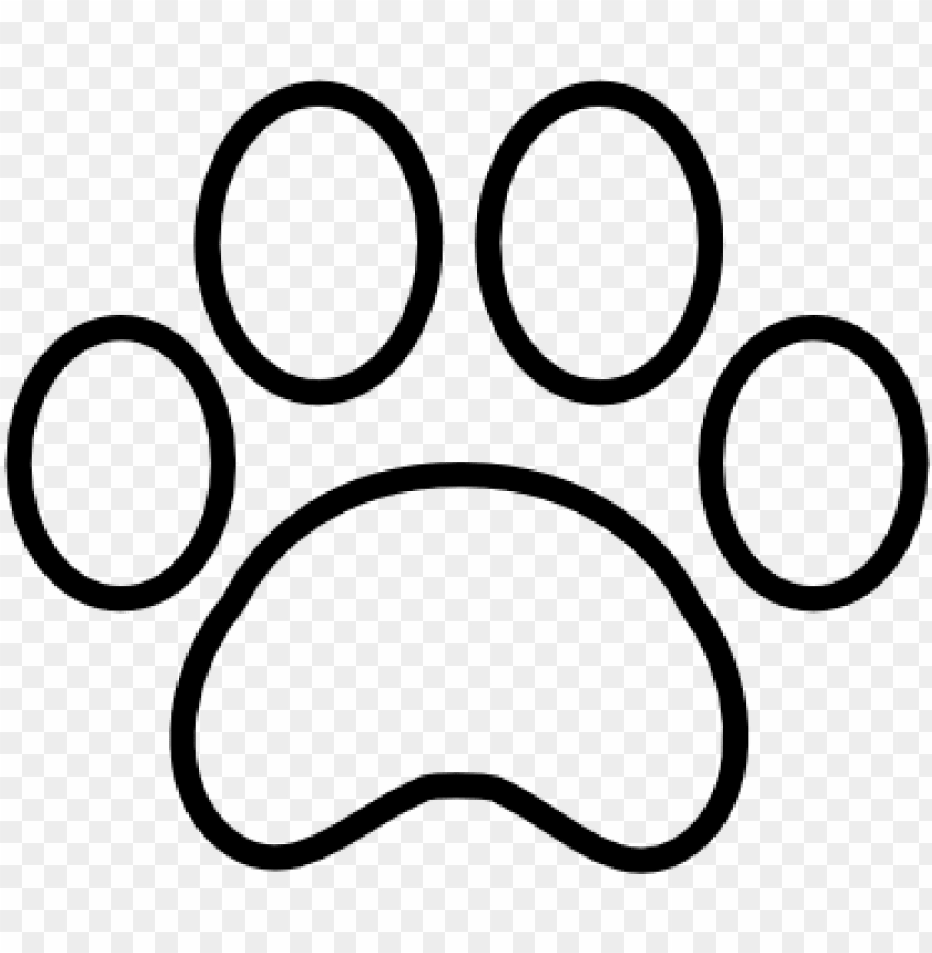 free PNG tiger paw print outline paw print outline free icon - paw print icon transparent png - Free PNG Images PNG images transparent