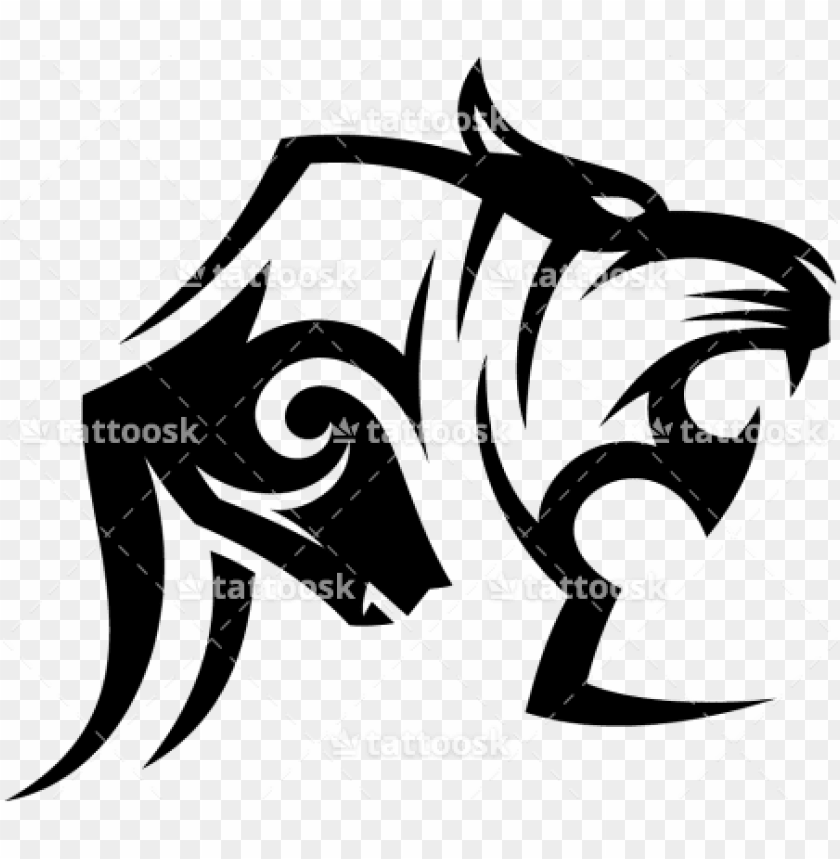 free PNG tiger tattoos clipart simple - tiger tribal tattoo head PNG image with transparent background PNG images transparent