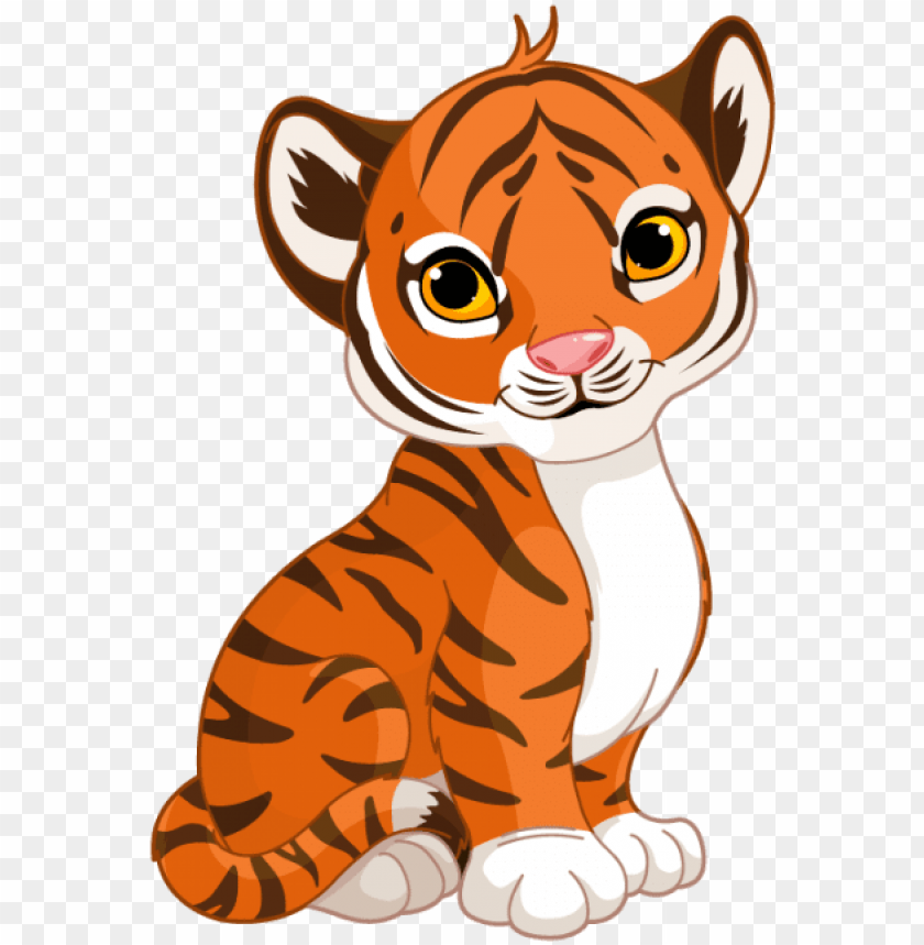 free PNG tigre dessin png - cute cartoon tiger cub PNG image with transparent background PNG images transparent
