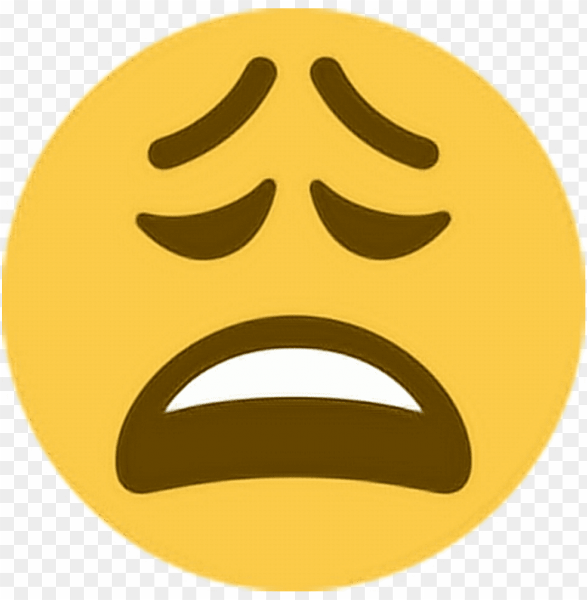 free PNG tired sleepy upset unhappy ugh emoji emoticon face - weary emoji PNG image with transparent background PNG images transparent